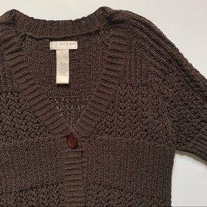 Kenar knit button down shrug